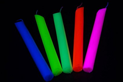 blacklight reactive drip candles