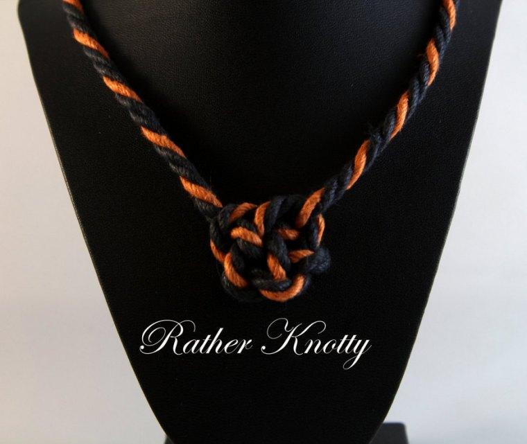 halloween bondage rope bunny necklace